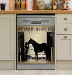 Horse You And Me We Got This Dishwasher Cover Sticker Kitchen Decor