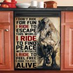 Horse I Ride To Feel Free And Alive Dishwasher Cover Sticker Kitchen Decor