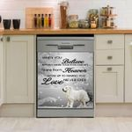Great Pyrenees Heaven Pattern Dishwasher Cover Sticker Kitchen Decor