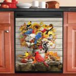 Thanksgiving Bird In Fall Dishwasher Cover Sticker Kitchen Decor
