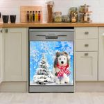Great Pyrenees Snow Cute Pattern Dishwasher Cover Sticker Kitchen Decor
