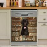 I Am Your Labrador Your Friend And Partner Dishwasher Cover Sticker Kitchen Decor