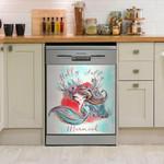Holly Jolly Mermaid Dishwasher Cover Sticker Kitchen Decor