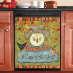 Halloween Autumn Bless Dishwasher Cover Sticker Kitchen Decor