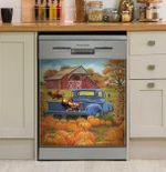 Home Is Where The Chickens Are Dishwasher Cover Sticker Kitchen Decor