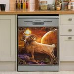 Full Moon In Aries Dishwasher Cover Sticker Kitchen Decor