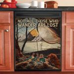 Wander Camping Dishwasher Cover Sticker Kitchen Decor