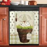 Garden Herb Pots Dishwasher Cover Sticker Kitchen Decor