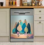 Spring Landscapes Dishwasher Cover Sticker Kitchen Decor