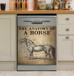 The Anatomy Of A Horse Dishwasher Cover Sticker Kitchen Decor