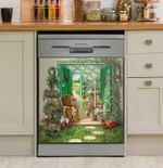 Garden Fresh Outdoor Dishwasher Cover Sticker Kitchen Decor