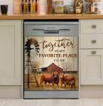 Farming Together Dishwasher Cover Sticker Kitchen Decor