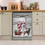 German Shorthaired Pointer Snow Pattern Dishwasher Cover Sticker Kitchen Decor
