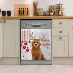 Labradoodle Merry Christmas Dishwasher Cover Sticker Kitchen Decor