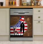 Hunting Deer Couple Love Hunting Dishwasher Cover Sticker Kitchen Decor