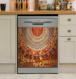 Hippie You Are My Sunshine Dishwasher Cover Sticker Kitchen Decor