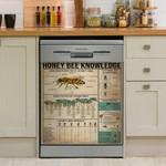 Honey Bee Knowledge Vintage Dishwasher Cover Sticker Kitchen Decor