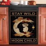 Stay Wild Moon Child Girl Dishwasher Cover Sticker Kitchen Decor