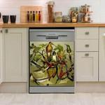 Humming Bird Green Galaxy Dishwasher Cover Sticker Kitchen Decor