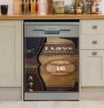 I Love Baseball Dishwasher Cover Sticker Kitchen Decor