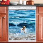 Lady Of The Sea Dishwasher Cover Sticker Kitchen Decor