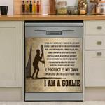 Lax I Am A Goalie Dishwasher Cover Sticker Kitchen Decor