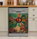Hippie What A Wonderful World Dishwasher Cover Sticker Kitchen Decor