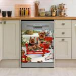 Yorkshire Big In Snow Pattern Dishwasher Cover Sticker Kitchen Decor