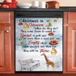 Giraffe Christmas In Heaven Dishwasher Cover Sticker Kitchen Decor