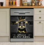 God Jesus Is My King For Awareness And Beliefs Dishwasher Cover Sticker Kitchen Decor