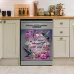 I Am Always With You Hummingbird Dishwasher Cover Sticker Kitchen Decor