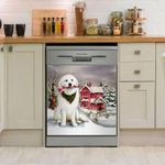 Great Pyrenees Red House Dishwasher Cover Sticker Kitchen Decor