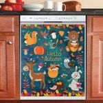 Hello Autumn Dishwasher Cover Sticker Kitchen Decor