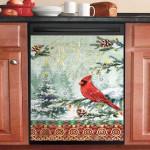 Joy Cardinal Christmas Dishwasher Cover Sticker Kitchen Decor