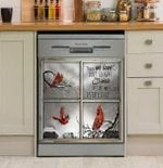 Those We Love Dont Go Away They Walk Beside Us Dishwasher Cover Sticker Kitchen Decor