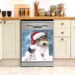 Wire Fox Terrier xmas Dishwasher Cover Sticker Kitchen Decor