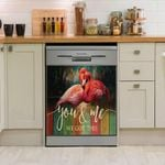 Flamingo Couple You And Me We Got This Dishwasher Cover Sticker Kitchen Decor