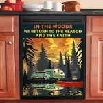 The Reason And The Faith Camping Dishwasher Cover Sticker Kitchen Decor
