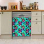 Labrador Retriever Pattern Colorful Dishwasher Cover Sticker Kitchen Decor