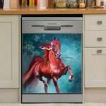 Horse Art Dishwasher Cover Sticker Kitchen Decor