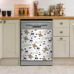 French Bulldog Paw Dishwasher Cover Sticker Kitchen Decor