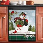 Snowman Memories Of Winter Dishwasher Cover Sticker Kitchen Decor