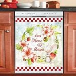 Strawberry Mouse This Home Is Blessed Dishwasher Cover Sticker Kitchen Decor