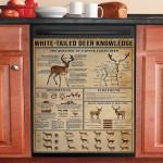 White Tailed Deer Knowledge Dishwasher Cover Sticker Kitchen Decor