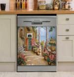 Le Colonne Sulla Terrazza Dishwasher Cover Sticker Kitchen Decor