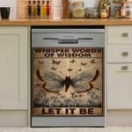 Let It Be Butterfly Dishwasher Cover Sticker Kitchen Decor