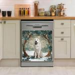 Great Pyrenees Waiting Tree Pattern Dishwasher Cover Sticker Kitchen Decor