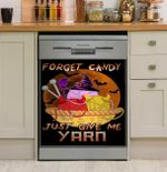 Knitting Forget Candy Just Give Me Yarn Dishwasher Cover Sticker Kitchen Decor