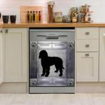 Labradoodle Corners Metal Pattern Dishwasher Cover Sticker Kitchen Decor