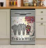Elephant Autism It's Ok To Be Different Dishwasher Cover Sticker Kitchen Decor
